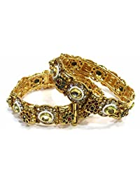 Shingar Jewellery Ksvk Jewels Antique Gold Plated Bangles Set For Women (5966-m-2.8)