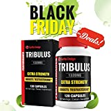 Tribulus Terrestris Extract, Natural Testosterone Booster Supplement, Highest Purity, 95% Steroidal Saponins, 80% Protodioscin, Increases Bodybuilding Muscle & Strength, Higher Sex Drive, 120 Capsules