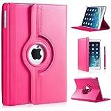 Apple Ipad Mini 360 rotation case with Screen Protector DN-TECHNOLOGY® (iPad Mini / Mini 2 / Mini 3 (2014), Pink)