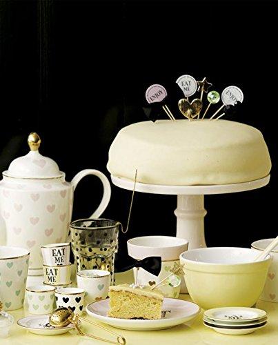 Miss Étoile Cupcakes Topper enjoy/Eat me blanco claro