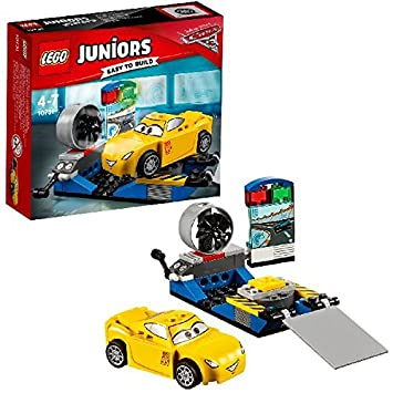 LEGO - 10731 - Juniors - Jeu de Construction - Le simulateur de course de Cruz Ramirez