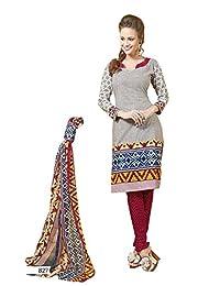 AASRI Party Wear Pure Cotton 3 Piece Unstitched Salwar Suit - B00TIJ0FPE