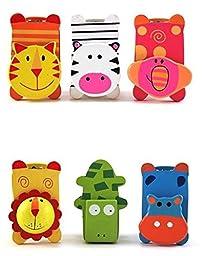 Hot sale,12pcs/lot Mini Lovely Cute Cartoon colorful Wooden stapler,animal stapler-sending 6 different styles