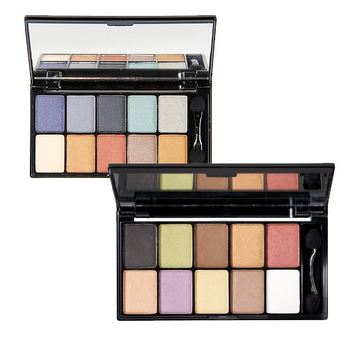 NYX 10-Color Eye Shadow Palette 2 Piece Set