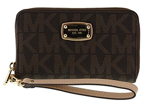 04. Michael Kors Large Flat Multifunction Phone Case Wristlet Wallet