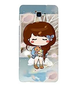EPICCASE Cute girl with puppy Mobile Back Case Cover For Coolpad Dazen 1 (Designer Case)