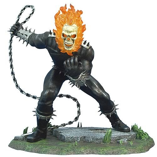 Buy Low Price Corgi Marvel Diecast Ghost Rider 1/12 Scale Statue Figure (B0015MLKMY)