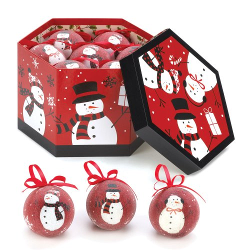 Black & Red Snowman Ornaments