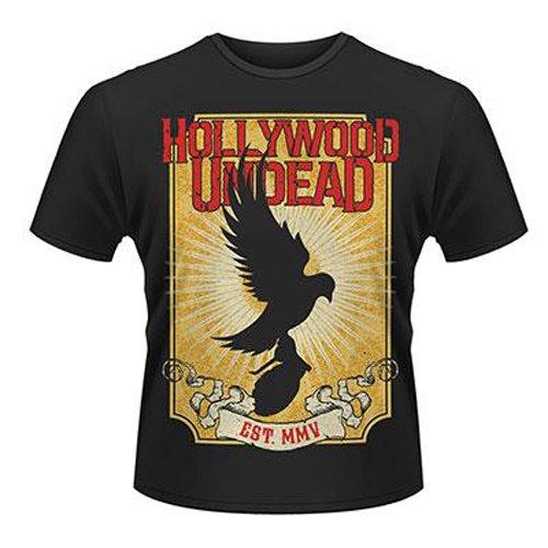 Playlogic International(World) - Hollywood Undead Golden Dove, T-shirt da uomo, nero (black), S