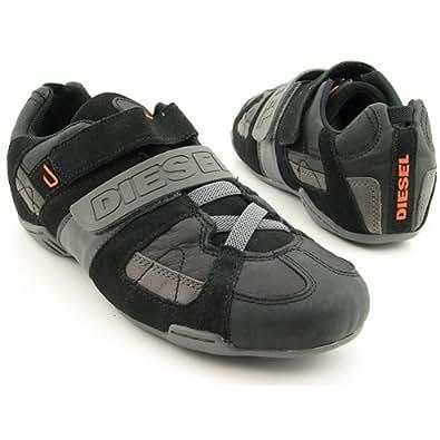 Amazon.com: Diesel Men's Black/Grey Velcro Katun Trainer ...