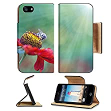 buy Apple Iphone 5 Iphone 5S Flip Case Honey Bee On Flower Image 21535308 By Msd Customized Premium Deluxe Pu Leather Generation Accessories Hd Wifi Luxury Protector