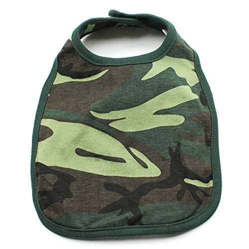 Crazy Baby Clothing Unisex Solid Infant Baby Bib in Woodland Camo