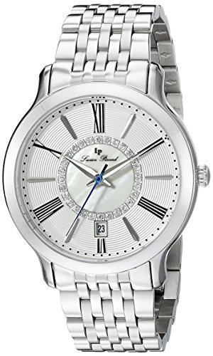 Lucien Piccard Reloj de mujer de cuarzo con Esfera Plateada Pantalla Analógica y plata pulsera de acero inoxidable lp-40004-22S
