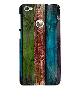 PrintVisa Colorful Wooden Pattern 3D Hard Polycarbonate Designer Back Case Cover for LeEco Le 1S