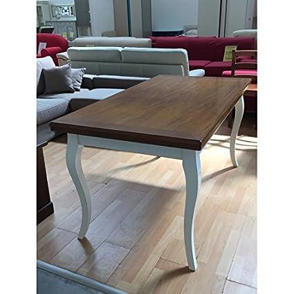 Mobili.–Provencal Two-Tone Wood Antique Table 100x 100Solid allungabilelegno–334–As Photos