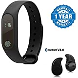 Xiaomi Mi 6 Compatible Certified M2 Water Proof Smart Band Compatible With Bluetooth & Heart Rate Sensor With...