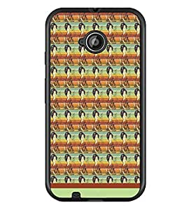 PrintDhaba Pattern D-1568 Back Case Cover for MOTOROLA MOTO E2 (Multi-Coloured)