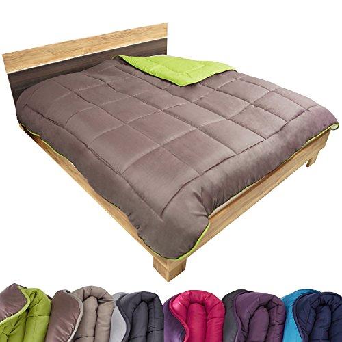 Beautissu-Bettberwurf-Tagesdecke-140x200-cm-Einzelbett-Stepp-Decke-gesteppt-hellgrngrngrau-viele-Farben-und-Gren