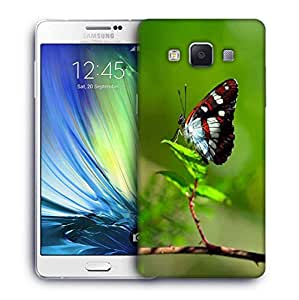 Snoogg Butterfly In Green Leaf Designer Protective Phone Back Case Cover For Samsung Galaxy A7