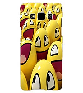 ColourCraft smilies Design Back Case Cover for SAMSUNG GALAXY A3
