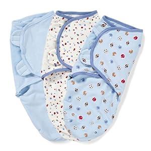 Summer Infant SwaddleMe Adjustable Infant Wrap, Sports, 3 Count