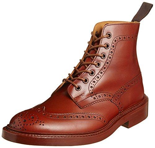 [トリッカーズ] Tricker's Tricker's Full Brogue Derby Boot / STOW - Calf -  (Double Leather Sole) M5634 MARRON Antique(MARRON Antique/8.5)