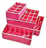 Fetoo 4er- Set Schublade Schrank Organizer Kleiderschrank Veranstalter Bra Unterwäsche