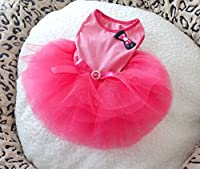 ONOR-Tech Lovely Cute Doggy Apparel Clothes Pet Puppy Dog Cat Bow Tutu Princess Dress Wedding Party Dress