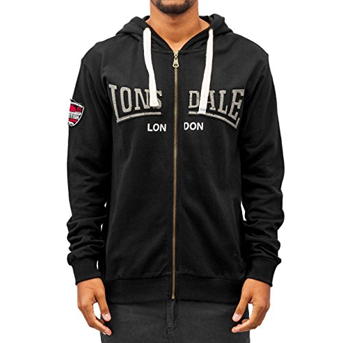 Lonsdale Zip Hoody Callington, Color:black;Größe:S