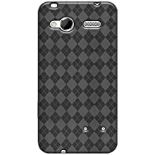 Amzer AMZ92701 Luxe Argyle High Gloss TPU Soft Gel Skin Case for HTC Radar (Smoke Grey)