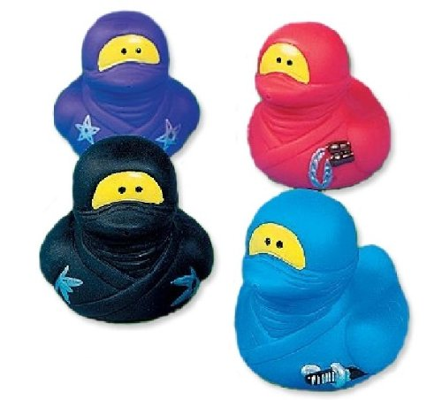 One Dozen (12) ~ Ninja Rubber Duckys back-1008483
