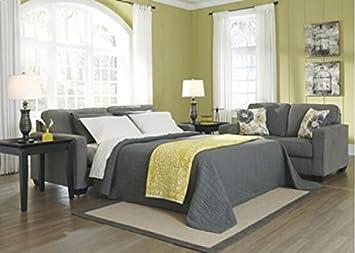 Safia Queen Sleeper Sofa in Slate by Ashley