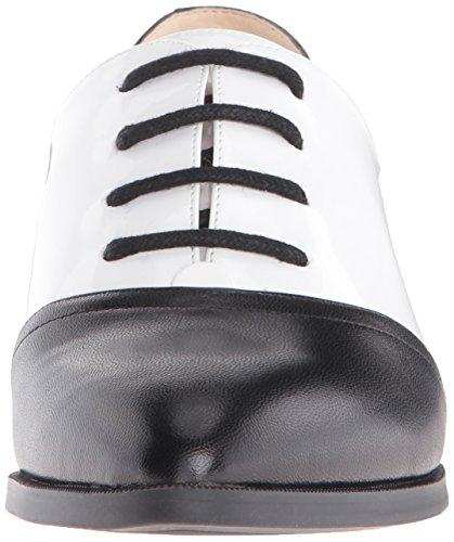 Nine West Women's Nevie Leather Oxford, Black/White, 8.5 M US
