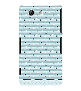 American Stars Pattern 3D Hard Polycarbonate Designer Back Case Cover for Sony Xperia Z4 Mini :: Sony Xperia Z4 Compact