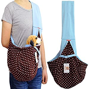 i'Pet® Hands-free Reversible Small Dog Cat Sling Carrier Bag Travel Tote Soft Comfortable Puppy Kitty Rabbit Double-sided Pouch Shoulder Carry Tote Handbag