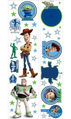 Imperial 31720539 Disney Toy Story Glow in the Dark Self-Stick Instant Decor Kit