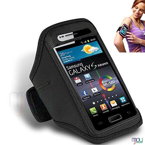 Samsung Galaxy S Advance I9070 NERO regolabile Ciclo bracciale della palestra di sport bike Corsa del supporto della copertura della cassa jogging Sport Pouch (BB) IN GIOIA MOBILE
