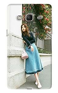 Blue Throat Girl Printed Designer Back Cover/Case For Samsung Tizen Z3