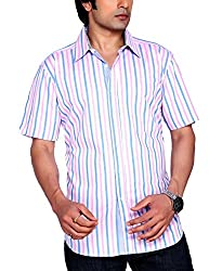 Moksh Men's Striped Casual Shirt V2IMS0414-04 (Large)