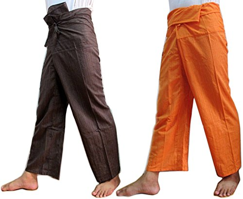 Best-Seller-Thaismile-Double-2-X-Striped-Thai-Fisherman-Wrap-Pants-Trousers