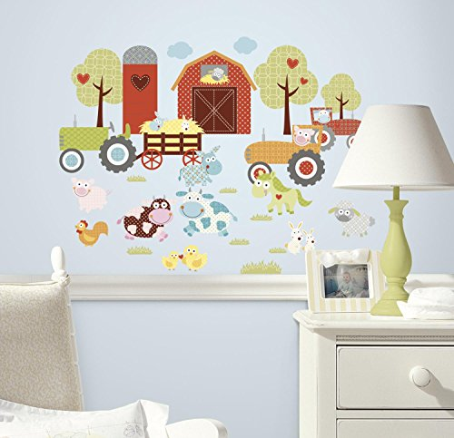 RoomMates Happi Barnyard Peel & Stick Wall Decals - 1
