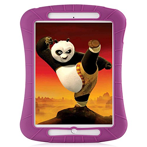 iXCC ® Shockproof Silicone Protective Case Cover for Apple 2014 iPad Air 2 [Drop Proof, Kids Proof, Shock Proof, Anti slip] - Purple