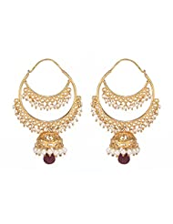 Amethyst By Rahul Popli White Gold Plated Dangle & Drop Earrings - B00OYSFBYE