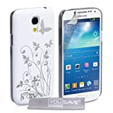 Yousave Accessories Floral Butterfly Hard Cover Case for Samsung Galaxy S4 Mini - Whiteby Yousave Accessories