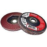 "Griton FA94040 Industrial Type 29 Abrasive Flap Disc, 4"" Diameter, 5/8"" Arbor, 40 Grit Aluminum Oxide (Pack of 10)"