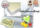 4myBaby BESONDERE TECHNIK Matratzenschutz Wasserdicht Matratzenschoner Wasserdichte Betteinlage MOLTON (100% Baumwolle) 80x180 cm