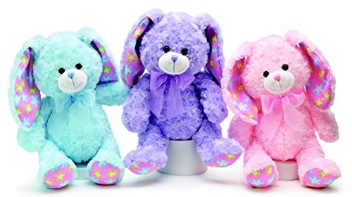Burton & Burton Plush Easter Bunny Bunnies Pink, Purple or Blue (Pink)