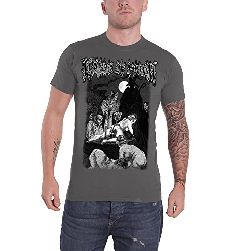 Cradle of Filth - Top - Maniche corte  - Uomo grigio Small