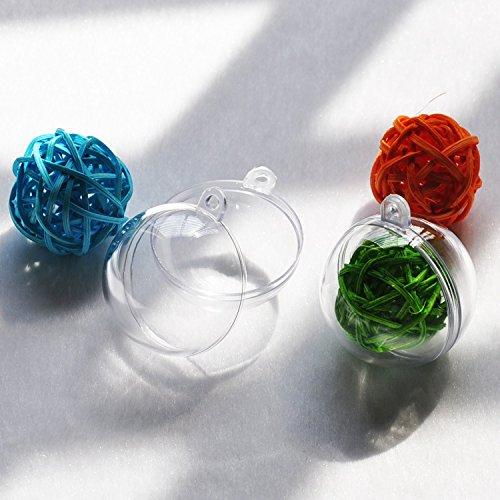Seekingtag clear diy fillable plastic ball craft ornaments for Clear plastic balls for crafts