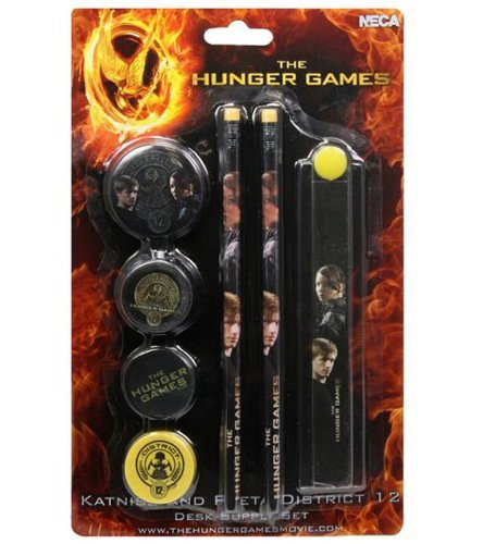 "The Hunger Games Movie - Stationery Set on Backercard ""Katniss and Peeta District 12"""